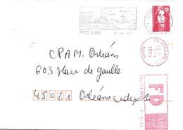 PARIS 15 AIR 6-9-95, Avec Flamme Rouge Roubaix FAUSSE DIRECTION, TB - Marcofilia (sobres)