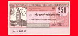 MINIASSEGNI - BANCA POPOLARE DI BERGAMO - L. 250 - Nuovo - FdS - MINITALIA S.p.A. - Capriate S. Gervasio (BG) Monumenti - [10] Assegni E Miniassegni