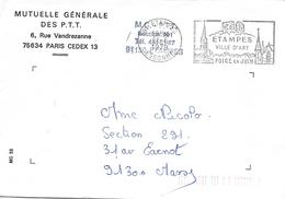 91 ÉTAMPES  21-6-1979, ÉTAMPES Ville D'art, Foire En Juin - Marcophilie (Lettres)