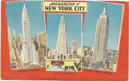 W1259 Monarchs Of New York City - Chrysler Building - Empire State Building - RCA Building / Viaggiata 1961 - Viste Panoramiche, Panorama
