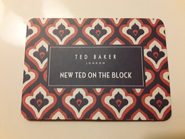 TED BAKER ~~~ Carte Promo  !! - Perfume Cards