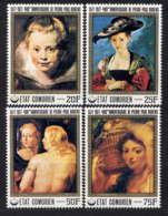 COMORES - 183/186** - PEINTURES DE P.P. RUBENS - Comores (1975-...)