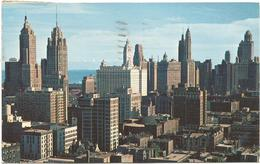 W1261 Chicago Skyline Looking Southerly From Chicago Avenue / Viaggiata 1955 - Chicago