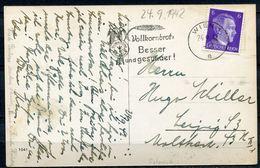 """CPSM S/w AK German Empires/Österreich Wien 1942 M.Propaganda MWST""""WIEN 1-VOLLKORNBROT Besser U.gesünder """"1 AK Used - Deutschland"""