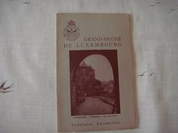 Livre Dépliant Touristique -Touring Club De Belgique 1954- GRAND DUCHE DE LUXEMBOURG - Dépliants Touristiques
