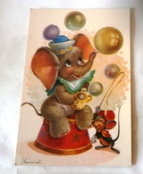 ILLUSTRATEUR VERNET  ELEPHANT SOURIS BULLES - Illustrators & Photographers