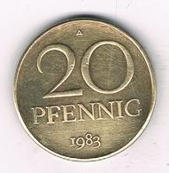 20 PFENNIG  1983 A DDR    DUITSLAND /1530/ - [ 6] 1949-1990 : RDA - Rép. Démo. Allemande