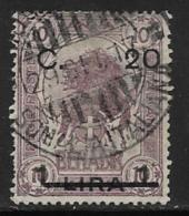 Somalia Scott # 19 Used Lion, Surcharged, 1916, CV$35.00, Some Short Perfs - Somalia