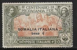 Somalia Scott # 51 Used Italy Propagation Of The Faith Issue, Surcharged, 1923, CV$40.00 - Somalia