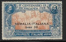 Somalia Scott # 54 Used Italy Propagation Of The Faith Issue, Surcharged, 1923, CV$70.00 - Somalia