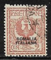 Somalia Scott # 83 Used Italy Stamp Overprinted, 1926 - Somalia