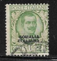 Somalia Scott # 87 Used Italy Stamp Overprinted, 1926 - Somalia