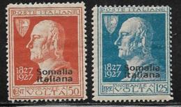 Somalia Scott # 98-9 Mint Hinged Italy Volta Stamps Overprinted, 1927 - Somalia