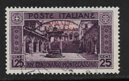 Somalia Scott # 108 Used Italy Monte Cassino Stamp Overprinted, 1929, CV$32.50, Thin - Somalia