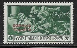 Somalia Scott # 115 Mint Hinged Italy Ferrucci Issue Stamp Overprinted, 1930 - Somalia