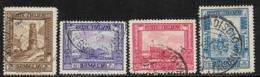 Somalia Scott # 144a,146a,147a,183a Used Tower,Palace, Termite Nest,1934-7 - Somalia