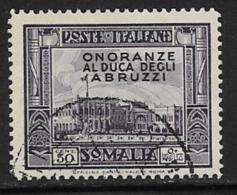 Somalia Scott # 158 Used Palace, Overprinted,1934, CV$37.50 - Somalia