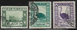 Somalia Scott # 174-5,178 Used Palace, Ostrich, 1950 - Somalia