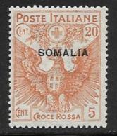 Somalia Scott # B3 Mint Hinged Italy Semipostal Stamp Overprinted, 1916 - Somalia