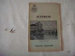 Livre Dépliant Touristique -Touring Club De Belgique 1953 - AUVERGNE ( France ) - Dépliants Touristiques