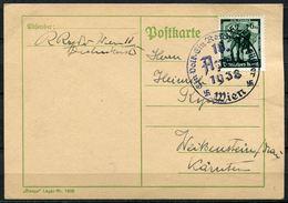 """German Empires/Österreich 1938 Bedarfspostkarte Mit Mi.Nr.663 Und SST"""" WIEN-10.April-Ein Volk...""""1 Karte - Deutschland"""