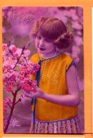 MOL160, Bonne Fête, Fluo Orange, Jeune Fille, Léo 1437, Circulée 1929 - Fêtes - Voeux