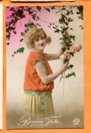 MOL169, Bonne Fête, Fluo Orange, Jeune Fille, DéDé 585, Circulée Sous Enveloppe - Fêtes - Voeux