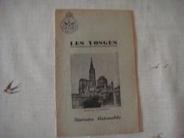 Livre Dépliant Touristique -Touring Club De Belgique 1953 - LES VOSGES ( France ) - Dépliants Touristiques