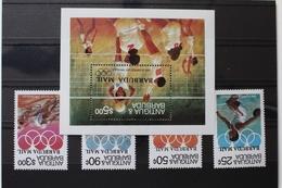 Antigua Und Barbuda Block 82 Und 724-727 ** Postfrisch Olympia #RH919 - Antigua Und Barbuda (1981-...)