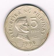5 PISO 1998 FILIPPIJNEN /1536/ - Philippines
