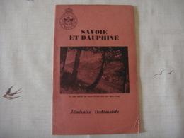 Livre Dépliant Touristique -Touring Club De Belgique 1953 - SAVOIE ET DAUPHINE ( France ) - Dépliants Touristiques