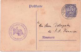 Alte  Postkarte  SIMMERN / Rheinld.-Pf.  - Post Des Kreisarztes - 1925 Gelaufen - Simmern