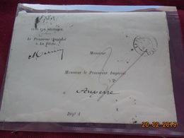 Lettre De 1868 Au Depart De La Fleche A Destination De Auxerre - Marcophilie (Lettres)