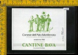 Etichetta Vino Liquore Cortese Dell'Alto Monferrato 1988 Bava-Cocconato Asti - Altri