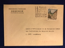Luxembourg - Enveloppe Administration Communale Hoscheid 08.12.89 - Luxembourg