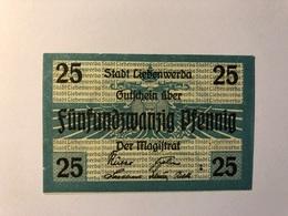 Allemagne Notgeld Liebenwerda 25 Pfennig - [ 3] 1918-1933 : République De Weimar