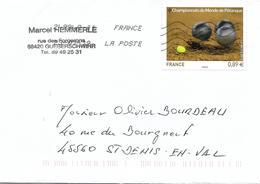 4684 Championnats Du Monde De Pétanque à Marseille - Marcophilie (Lettres)