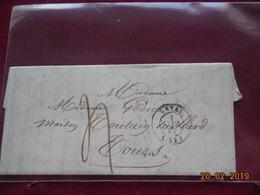 Lettre De 1843 Au Depart De Laval A Destination De Tours - 1801-1848: Précurseurs XIX