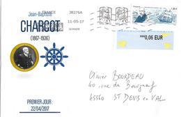 5140 JEAN-BAPTISTE CHARCOT Avec Complément D'affranchissement Au 11-05-17 - Marcophilie (Lettres)