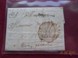 Lettre De 1754 Au Depart De Lyon A Destination De St Quentin (02) - Marcophilie (Lettres)