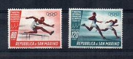 San Marino - 1955 - 1^ Mostra Internazionale Del Francobollo Olimpico - Posta Aerea - 2 Valori - Nuovi - (FDC14278) - Saint-Marin