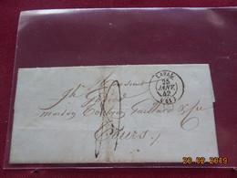 Lettre De 1842 Au Depart De Laval A Destination De Tours - Marcophilie (Lettres)