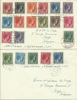 1946  2 Lettres Philatéliques Vers Liège  Avec Les 2,5 Et 20 Fr - Luxembourg