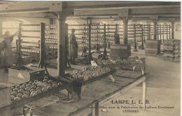 LESSINES : LAMPE L.E.B.- RARE VARIANTE - Lessines