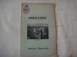 Livre Dépliant Touristique -Touring Club De Belgique 1952 - NORMANDIE (  France ) - Dépliants Touristiques
