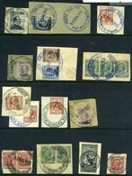 Italy, Military Occupation Of Patmos. 14 Fragments With 19 Stamps. F-VF. - Egée
