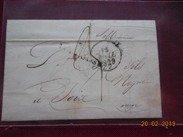 Lettre De 1829 Au Depart De Toulouse A Destination De Foix - Marcophilie (Lettres)