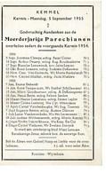 Kemmel September 1954 Augustus 1955 Gedachtenis Overleden Parochianen - Obituary Notices