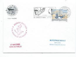 16925 - PA CHARLES DE GAULLE - AGENCE POSTALE + SORTIE DES FAMILLES 17 Mai 2003 - Marcophilie (Lettres)