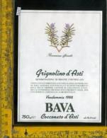 Etichetta Vino Liquore Grignolino D'Asti 1988 Bava-Cocconato D'Asti - Altri